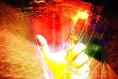 Light and technology Stock Photo