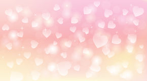 Light and tender hearts background Royalty Free Stock Image