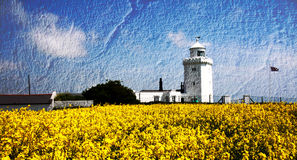Light Texture. Light house and field on a summer day Royalty Free Stock Photos