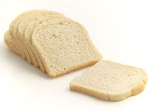 Light toast bread. Isolated on the white background Royalty Free Stock Photos