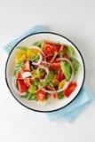 Light tomato salad on plate Stock Image