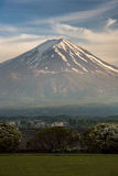 Light of the top of Mt.Fuji Royalty Free Stock Image