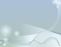 A Light Touch. Abstract image with cool waves stock illustration