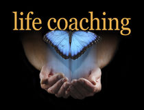 The light touch of a life coach Royalty Free Stock Images