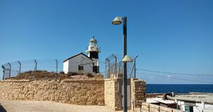 Light tower at Acre Royalty Free Stock Images