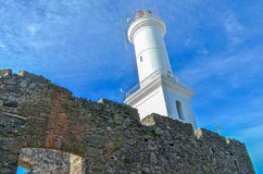 Light tower in Colonia, Uruguay Royalty Free Stock Images