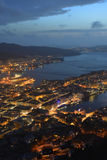 Light town - Bergen, Norway Royalty Free Stock Photo