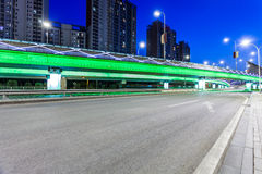 Light traces on traffic junctions at night Royalty Free Stock Images