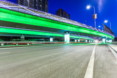 Light traces on traffic junctions at night Royalty Free Stock Photos