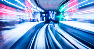 Light traces on traffic junctions Royalty Free Stock Photos