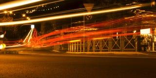 Light tracks Stock Photography