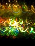 Light tracks. Colorfull light tracks on black background vector illustration