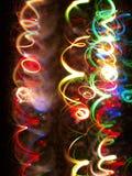 Light tracks. Colorfull light tracks on black background royalty free illustration
