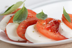 Light traditional caprese salad Royalty Free Stock Photography