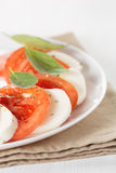 Light traditional caprese salad Stock Photos