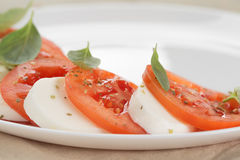 Light traditional caprese salad Stock Image