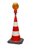 Light on traffic cone Royalty Free Stock Image