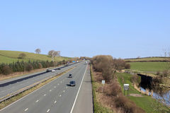 Light traffic on M6 motorway in Lancashire Stock Photography