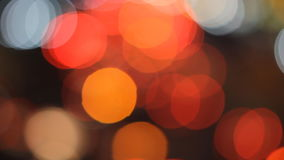 Light traffic on street in The city lights Motion blur and Abstract background bokeh stock footage