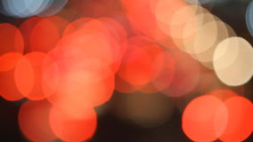Light traffic on street in The city lights Motion blur and Abstract background bokeh stock video footage