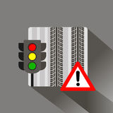 Light traffic vector stoplight semaphore stop. Color Stock Photography