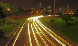 Light Trail at Aterro do Flamengo 2 royalty free stock photo