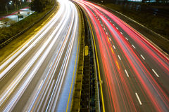 Light trail on a busy motorway Stock Photography