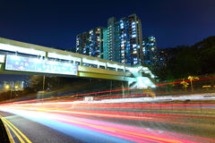 Light trail in city Stock Photography