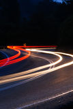 Light Trail at the Curve Royalty Free Stock Image