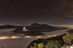 Dawn Rush at Mount Bromo Stock Photos