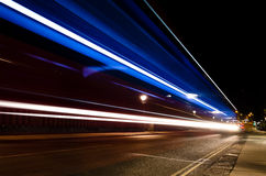 Light Trail in Richmond... Stock Images