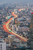 Light trail of the street in Bangkok Royalty Free Stock Images