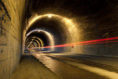 Light trail in tunnel Royalty Free Stock Image