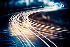 Light trails Stock Image