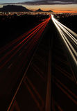 Light Trails. Car light trails on a highway in Cape Town South Africa Stock Image