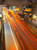 Light trails in Bangkok Royalty Free Stock Images
