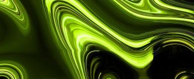 Light trails on black background. Digital artwork creative graphic design Stock Images