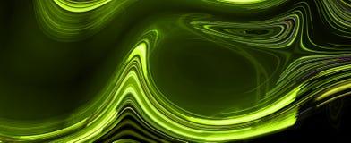 Light trails on black background. Digital artwork creative graphic design Stock Photography
