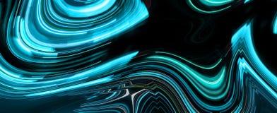 Light trails on black background. Digital artwork creative graphic design Royalty Free Stock Photo
