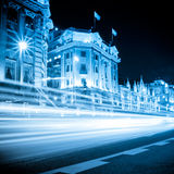 The light trails on the bund Royalty Free Stock Images