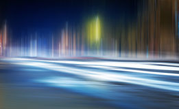 Light trails on a city Royalty Free Stock Image
