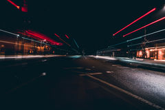 Light Trails On A City Street Stock Photography