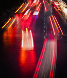 Light trails on City street at Night Royalty Free Stock Photography