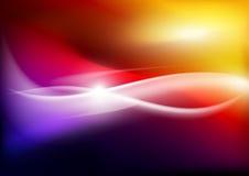 Light trails on colorful background vector illustration