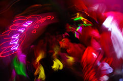 Light Trails In Dance Club Stock Photo