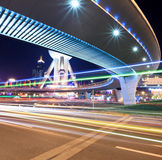Light trails on downtown in shanghai Stock Photography