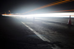 Light Trails on Freeway Royalty Free Stock Images