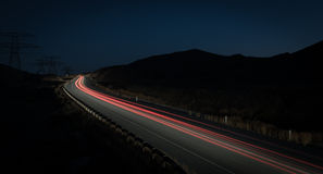 Light Trails From Fast Moving Cars