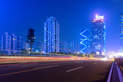The light trails on the highway Royalty Free Stock Images