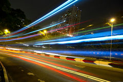 Light trails on highway Royalty Free Stock Images